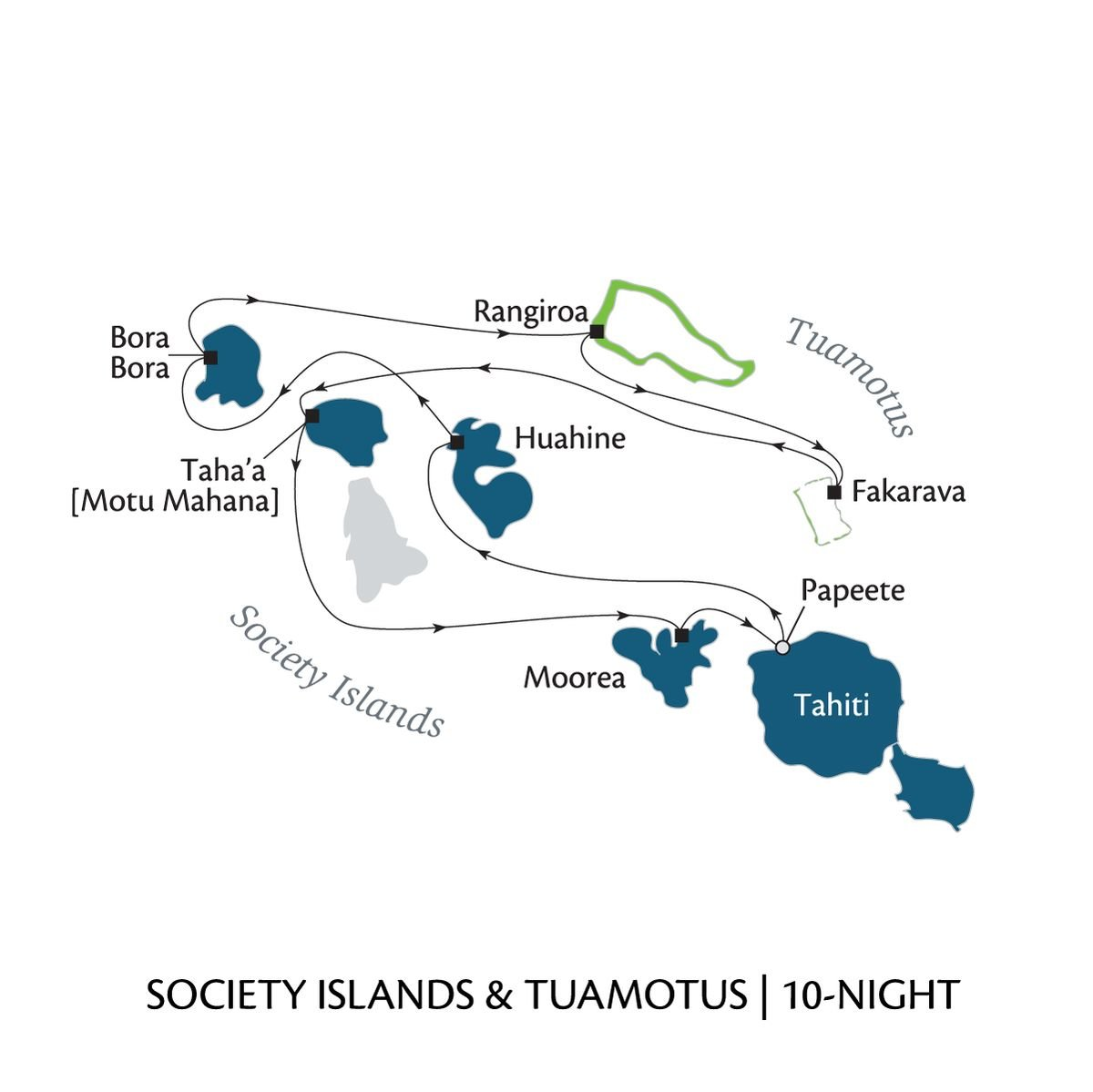Society Islands and Tumotus - 10-night cruise